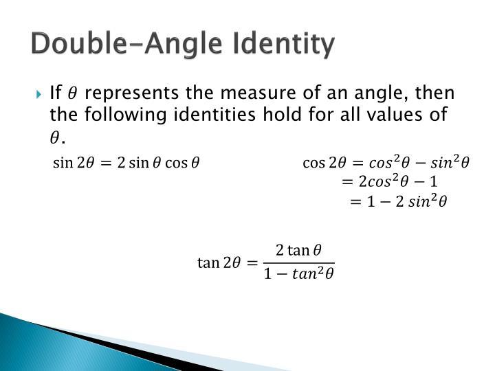 Double-Angle Identity