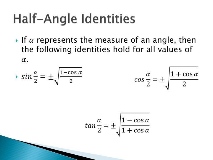 Half-Angle Identities
