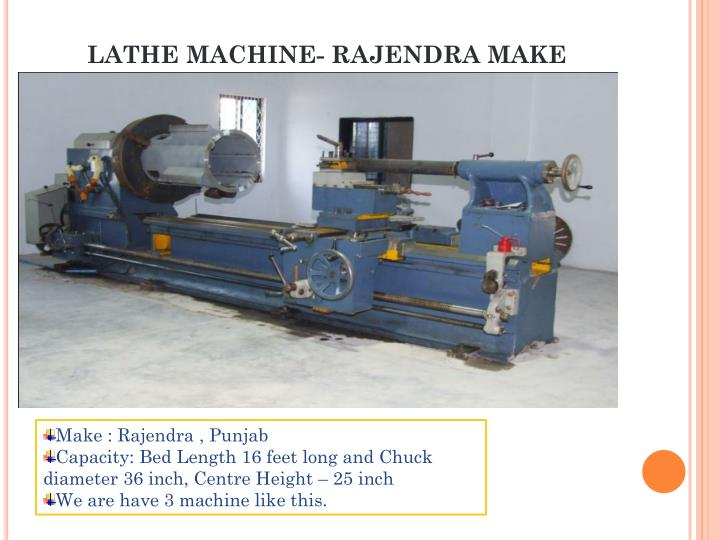 LATHE MACHINE- RAJENDRA MAKE