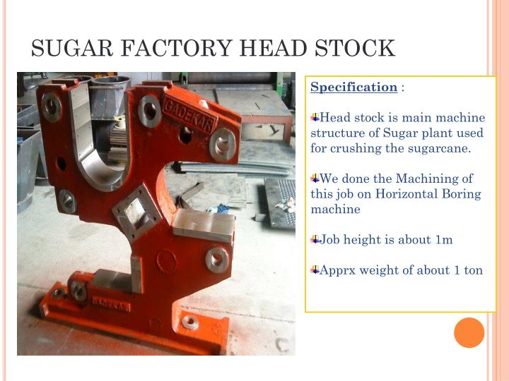 SUGAR FACTORY HEAD STOCK