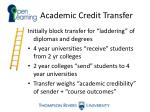 academic credit transfer