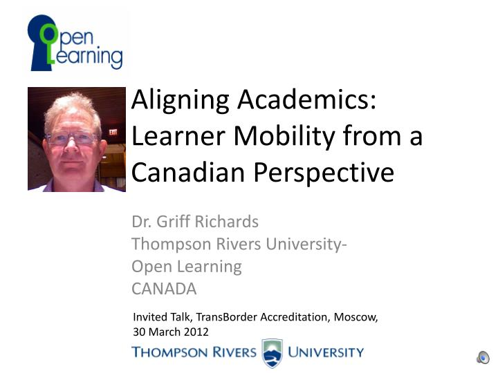 Aligning academics learner mobility from a canadian perspective