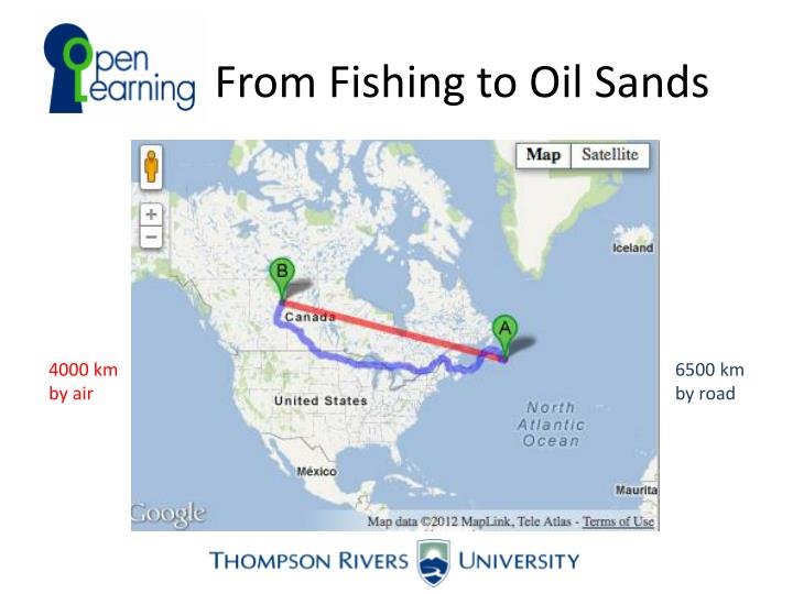 From Fishing to Oil Sands