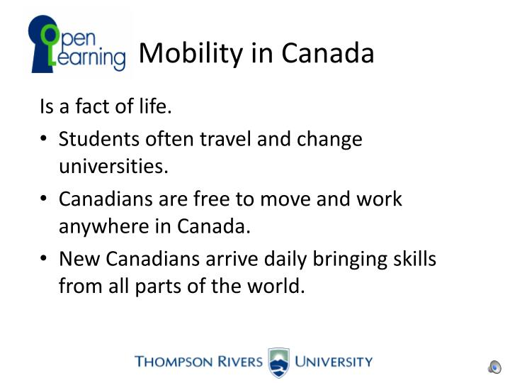 Mobility in Canada