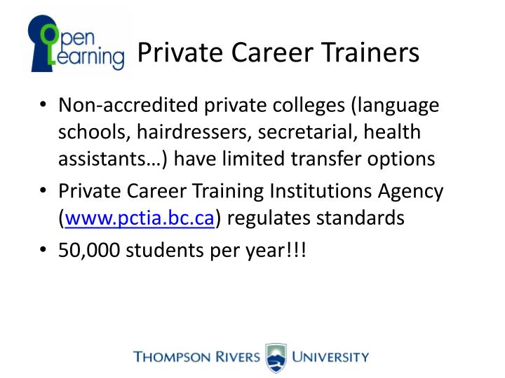 Private Career Trainers