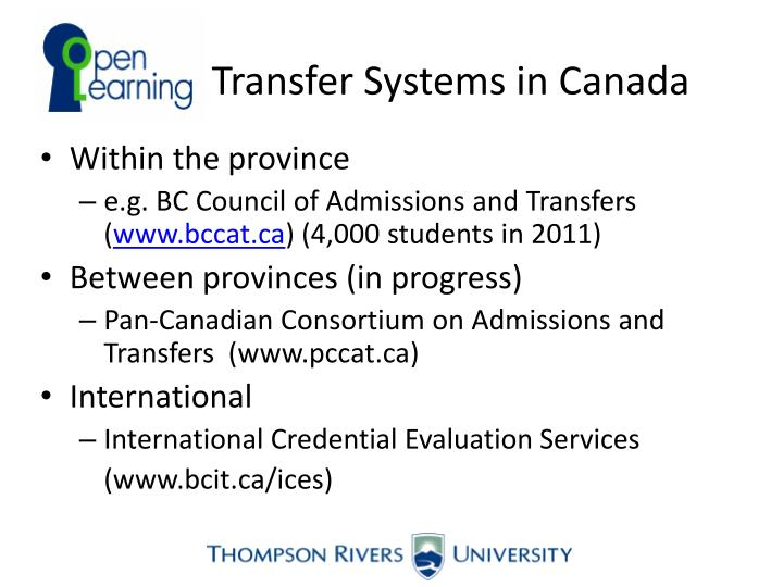 Transfer Systems in Canada