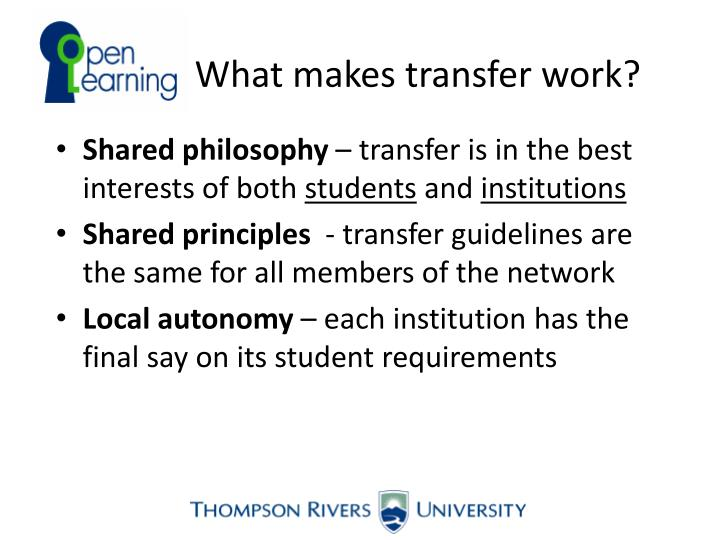 What makes transfer work?