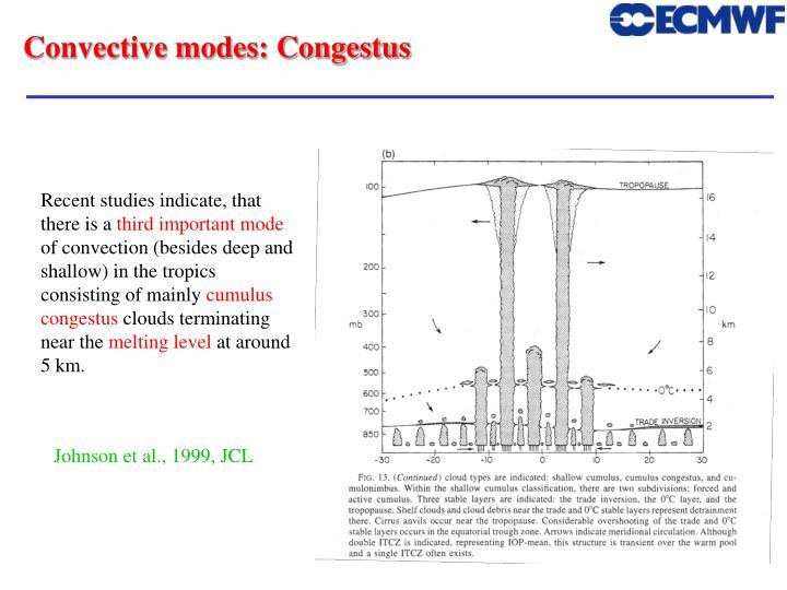 Convective modes: Congestus