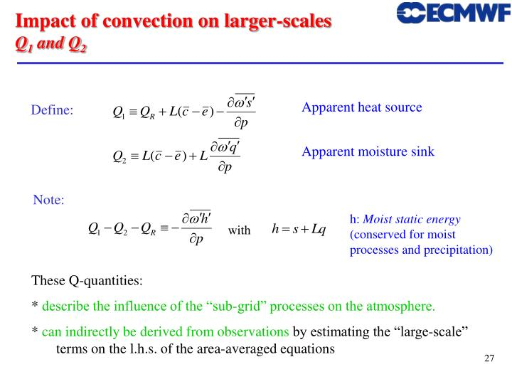 Impact of convection on larger-scales