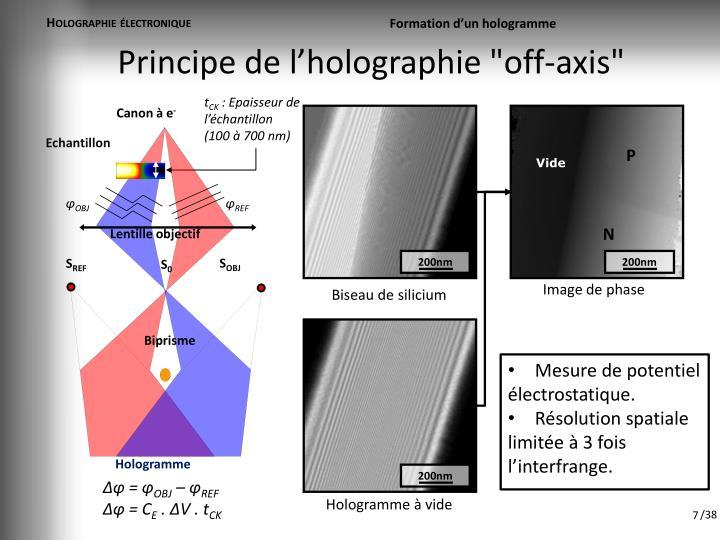 Holographie électronique