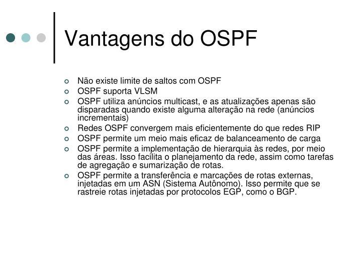 Vantagens do OSPF