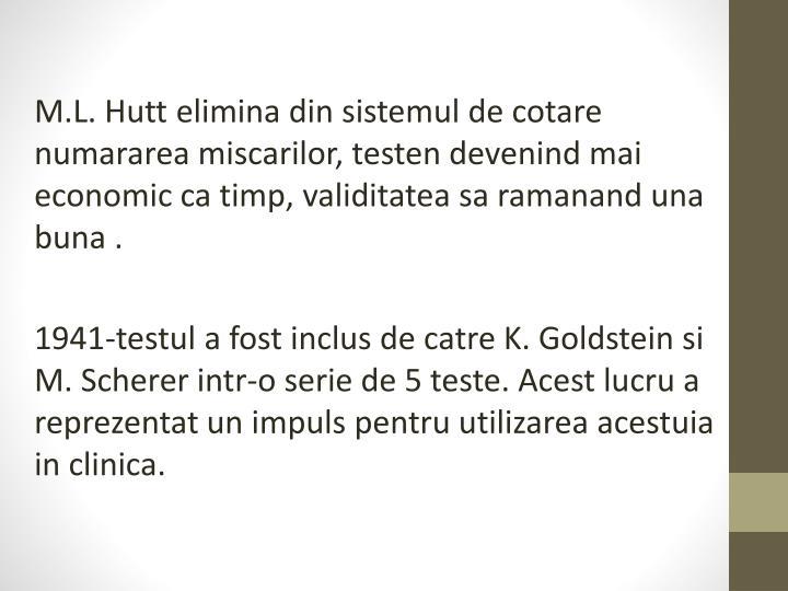 M.L. Hutt