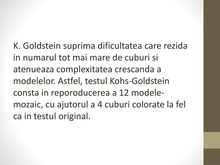 K. Goldstein