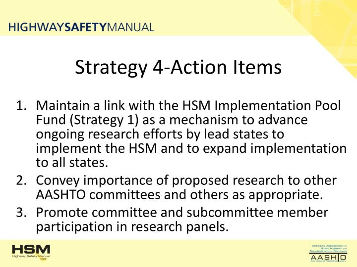 Strategy 4-Action Items