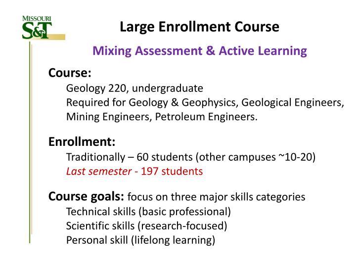 Large Enrollment Course