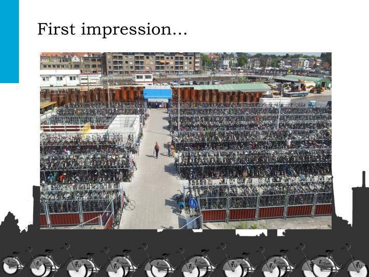 First impression...