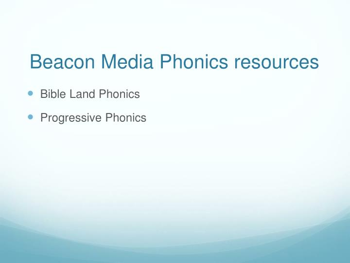 Beacon Media Phonics resources