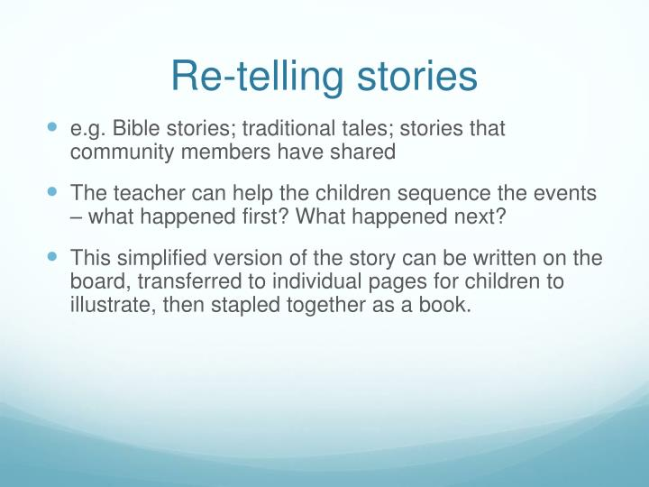 Re-telling stories