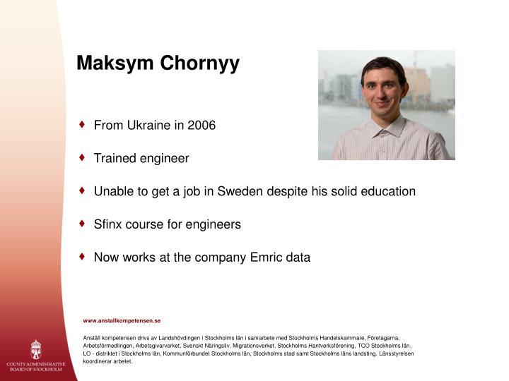 Maksym Chornyy