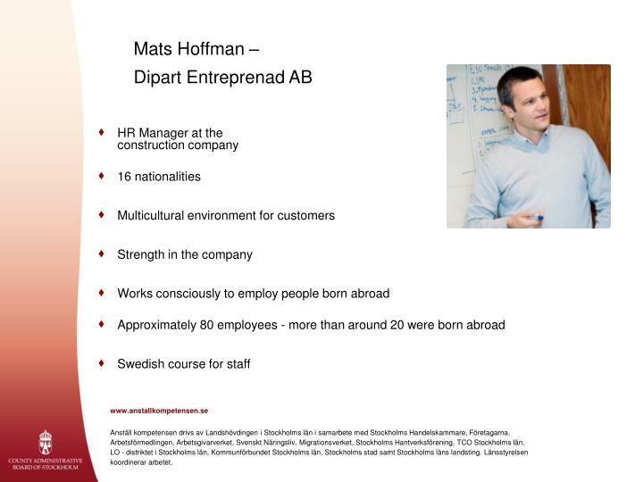 Mats Hoffman –