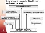 recruitment bazaar in stockholm pathways to work