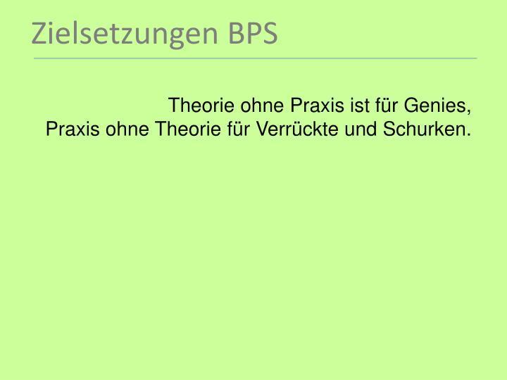 Theorie ohne Praxis ist für Genies,