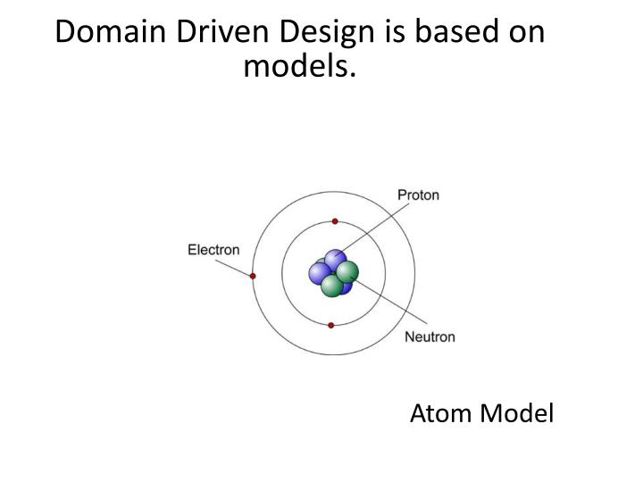 Domain Driven Design is based on models.