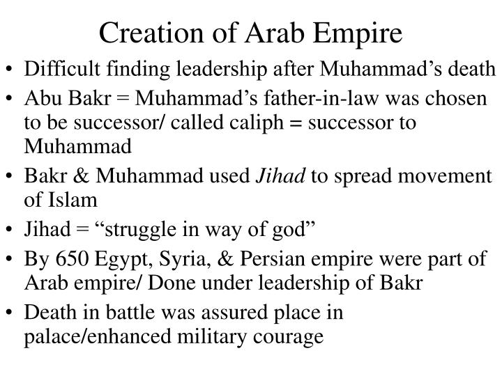 Creation of Arab Empire