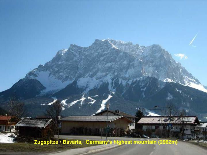 Zugspitze / Bavaria,  Germany's highest mountain (2962m)
