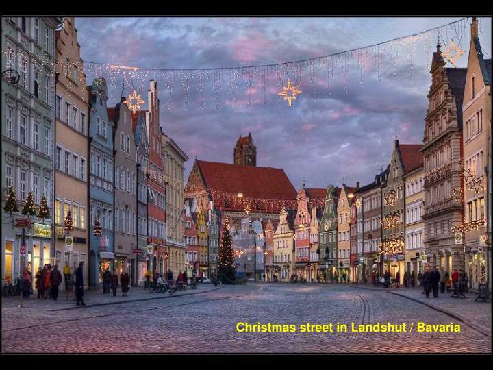 Christmas street in Landshut / Bavaria