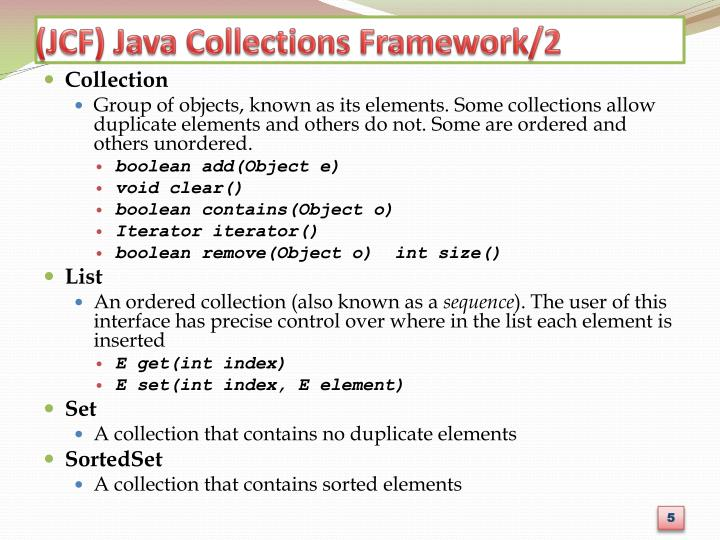 (JCF) Java