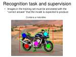 recognition task and supervision