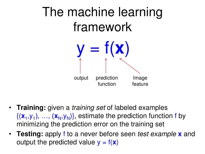 The machine learning framework1
