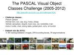 the pascal visual object classes challenge 2005 2012