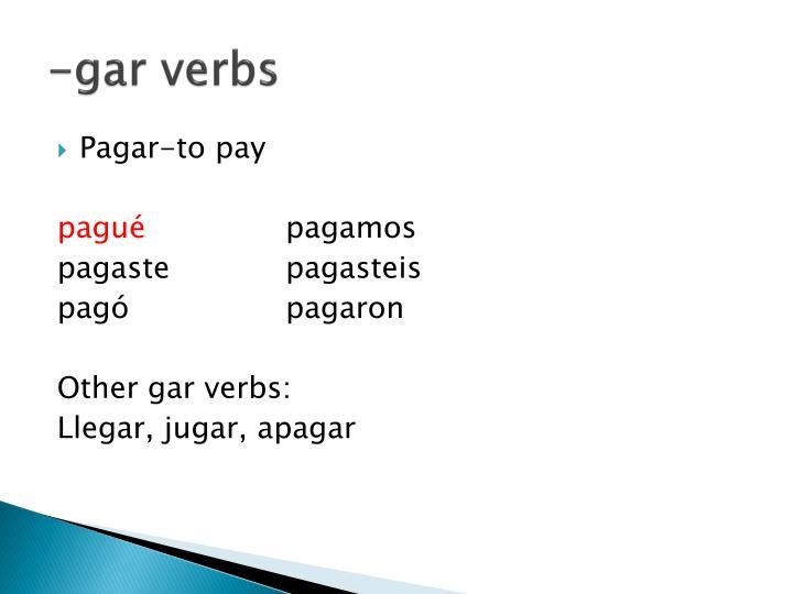 -gar verbs