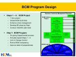 bcm program design1