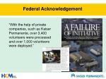 federal acknowledgement