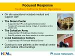 focused response southern california shelter operations
