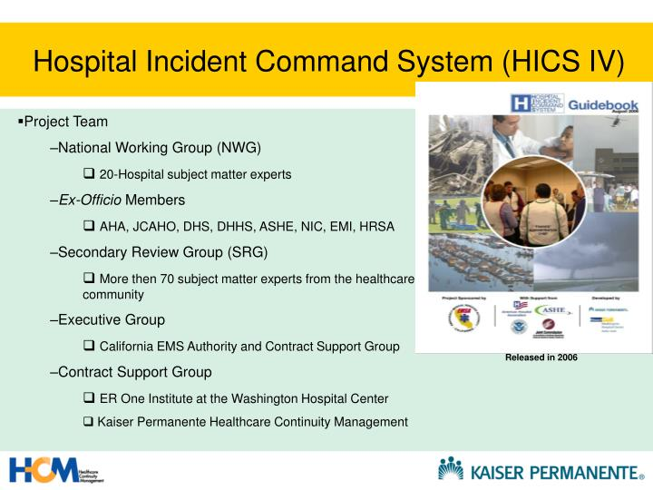 Hospital Incident Command System (HICS IV)