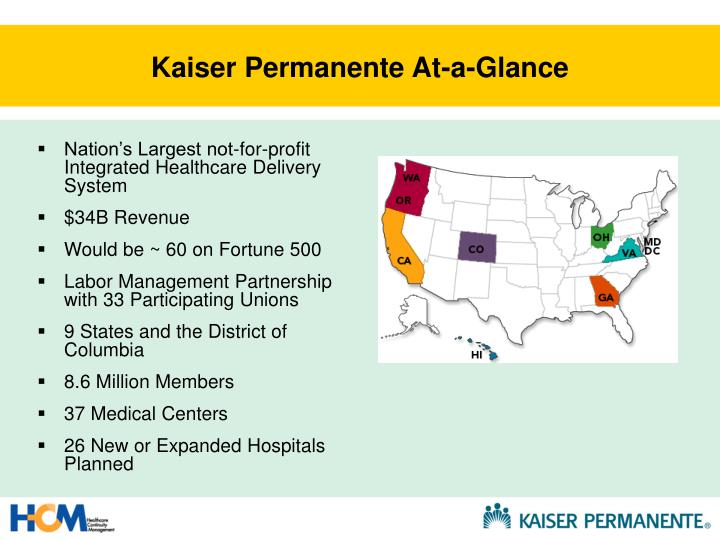 Kaiser permanente at a glance