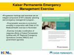 kaiser permanente emergency management exercise