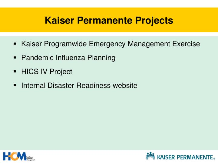Kaiser Permanente Projects