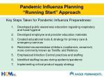 pandemic influenza planning running start approach