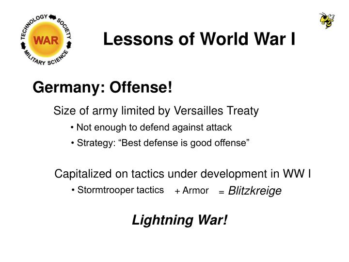 Lessons of World War I