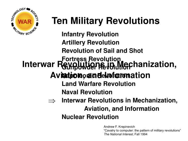 Ten Military Revolutions