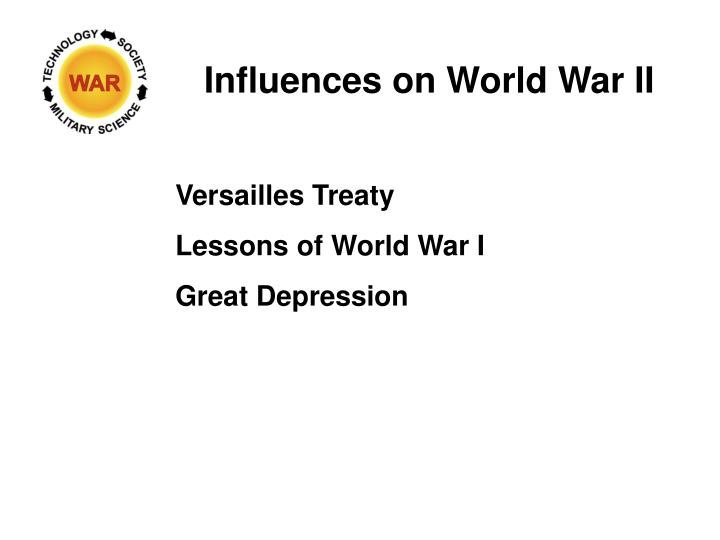Influences on World War II