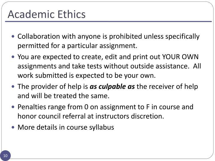 Academic Ethics