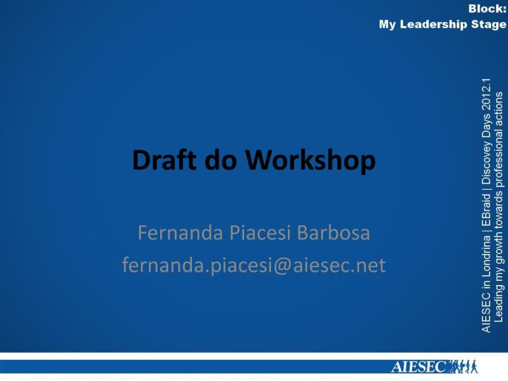Draft do workshop
