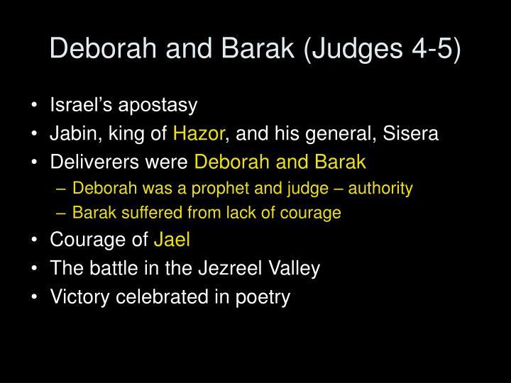 Deborah and Barak (Judges 4-5)