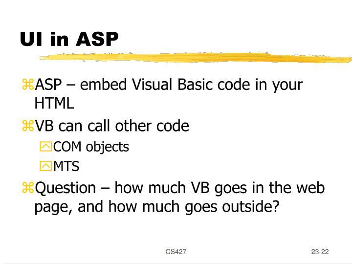 UI in ASP